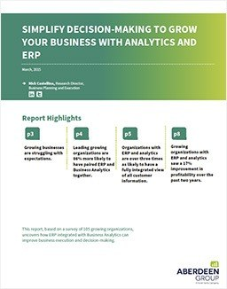 Grow Your Business with Analytics and ERP