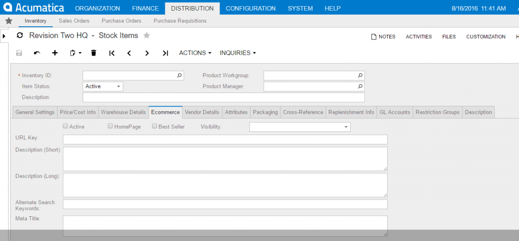Acumatica ERP - Built for Ecommerce