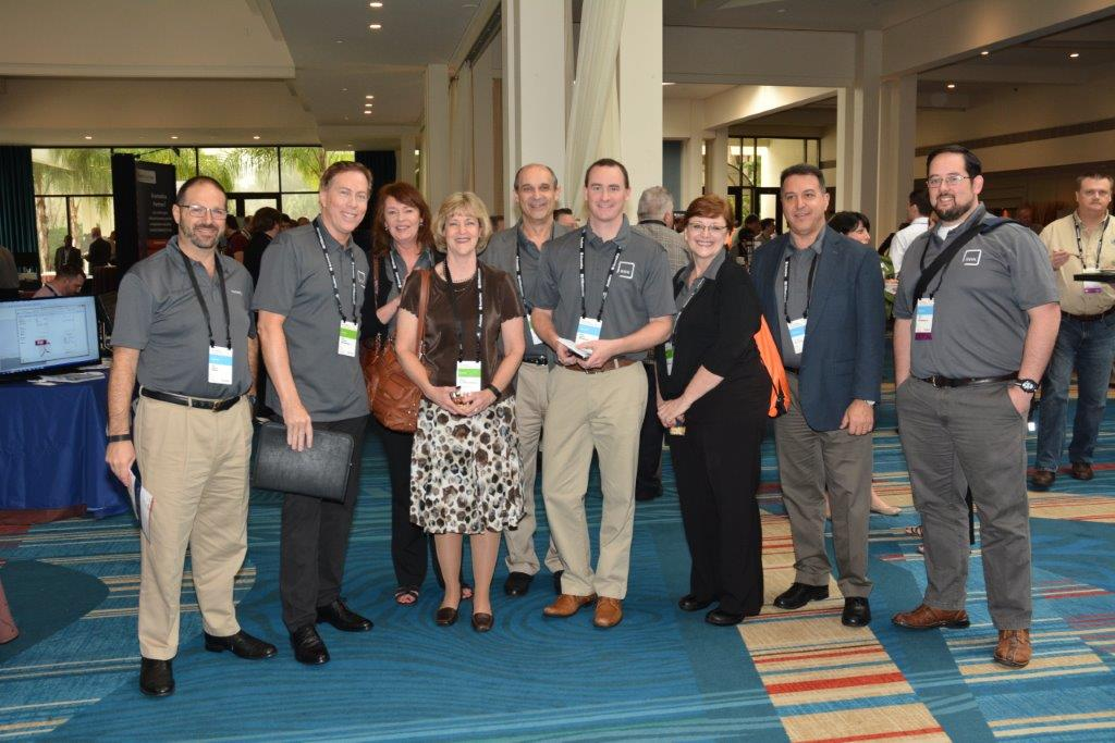Attendees at the expo