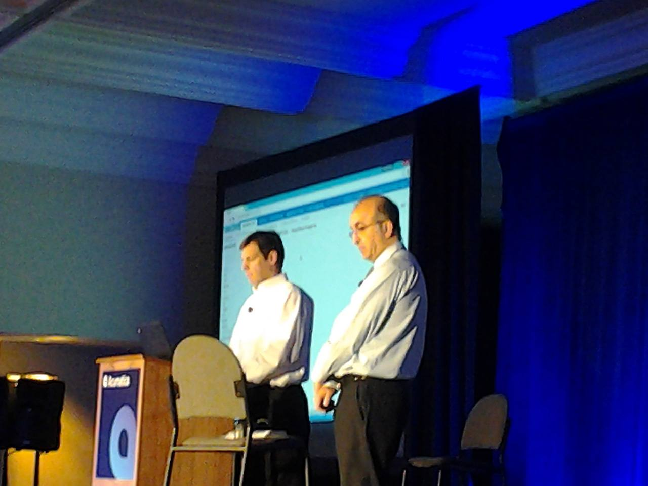 Doug Johnson and Ali Jani demo some awesome vertical functionality and partnerships during the first Tuesday Keynote