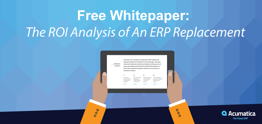 Free Whitepaper: The ROI Analysis of An ERP Replacement