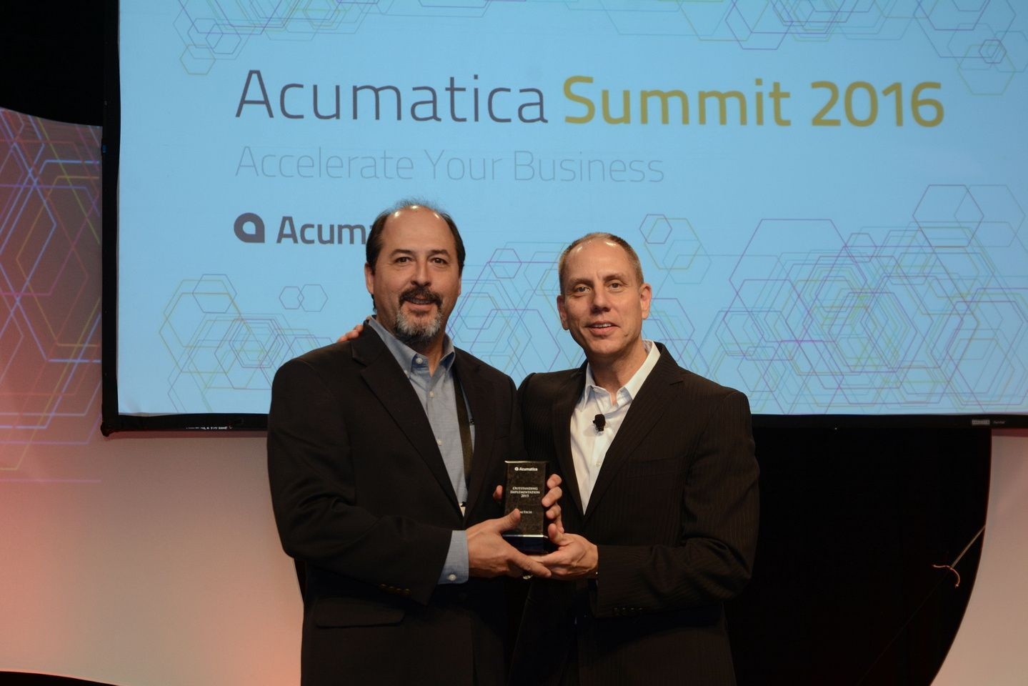 Francisco Callegari, CIO of Guardian SealTech and Jon Roskill, CEO of Acumatica
