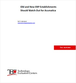 Old and New ERP Establishments Should Watch Out for Acumatica
