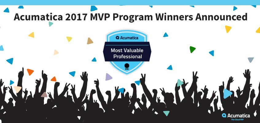 Acumatica 2017 MVP Program Winners Announced