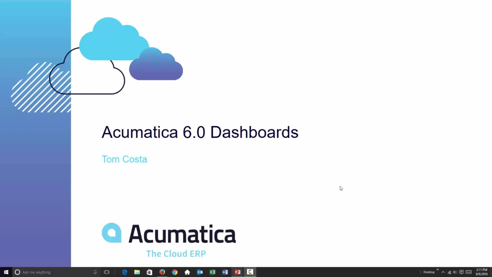 Acumatica 6: Dashboards and KPIs