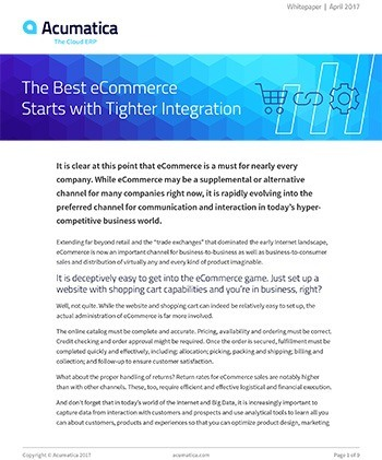The Best eCommerce Starts with Tighter Integration