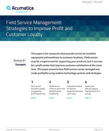 Field Service Management: Strategies to Improve Profit and Customer Loyalty