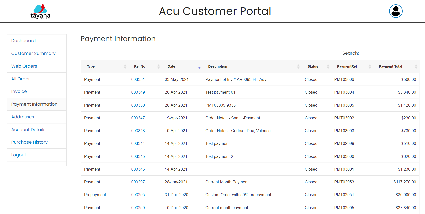 AcuCustomerPortal-Payments
