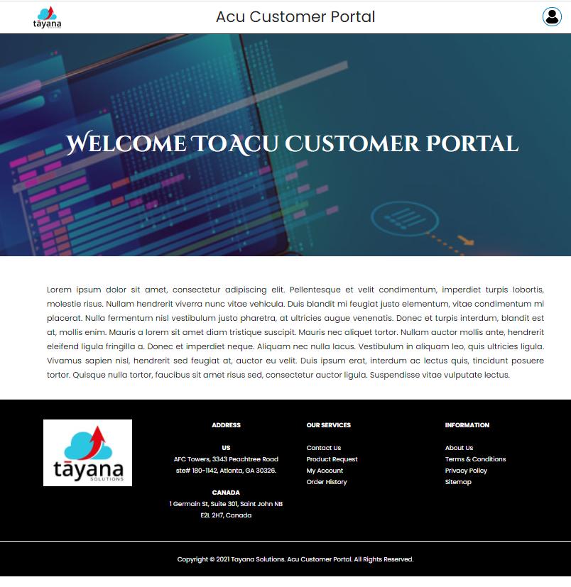 AcuCustomerPortal-HomePage