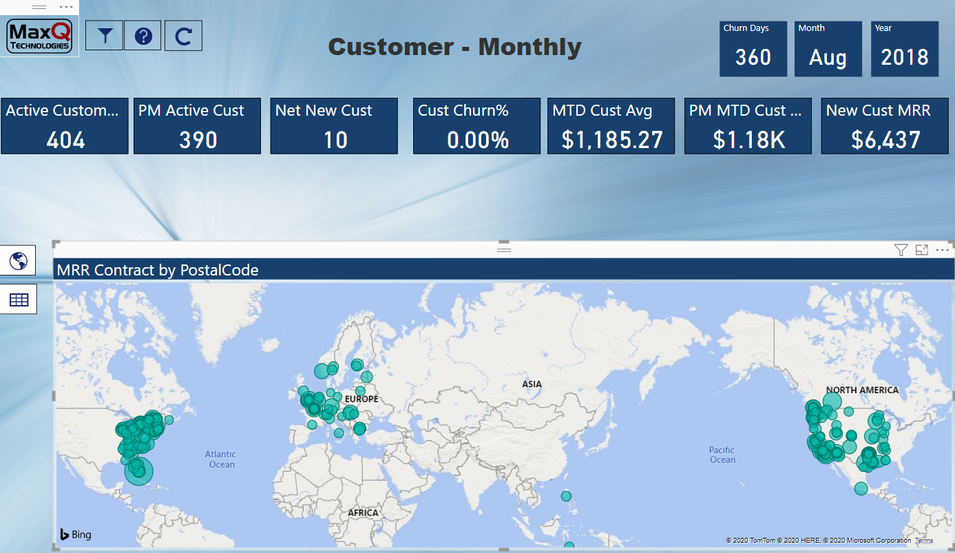 Customer-Monthly Map