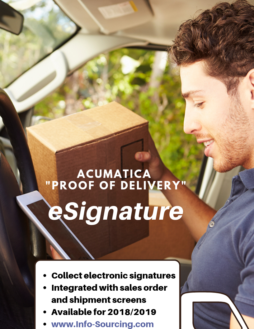 Accept electronic Signature