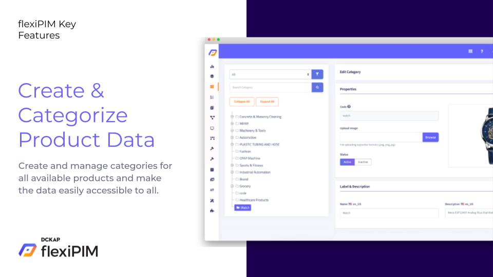 Create & Categorize Product Data
