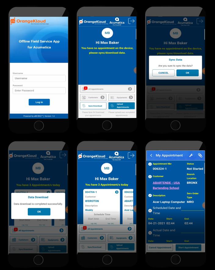 Field Service App Screenshots
