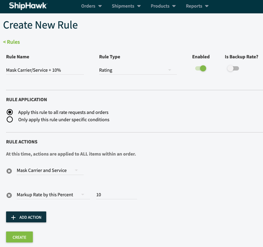 Configurable Business Rules - Create a New Rule
