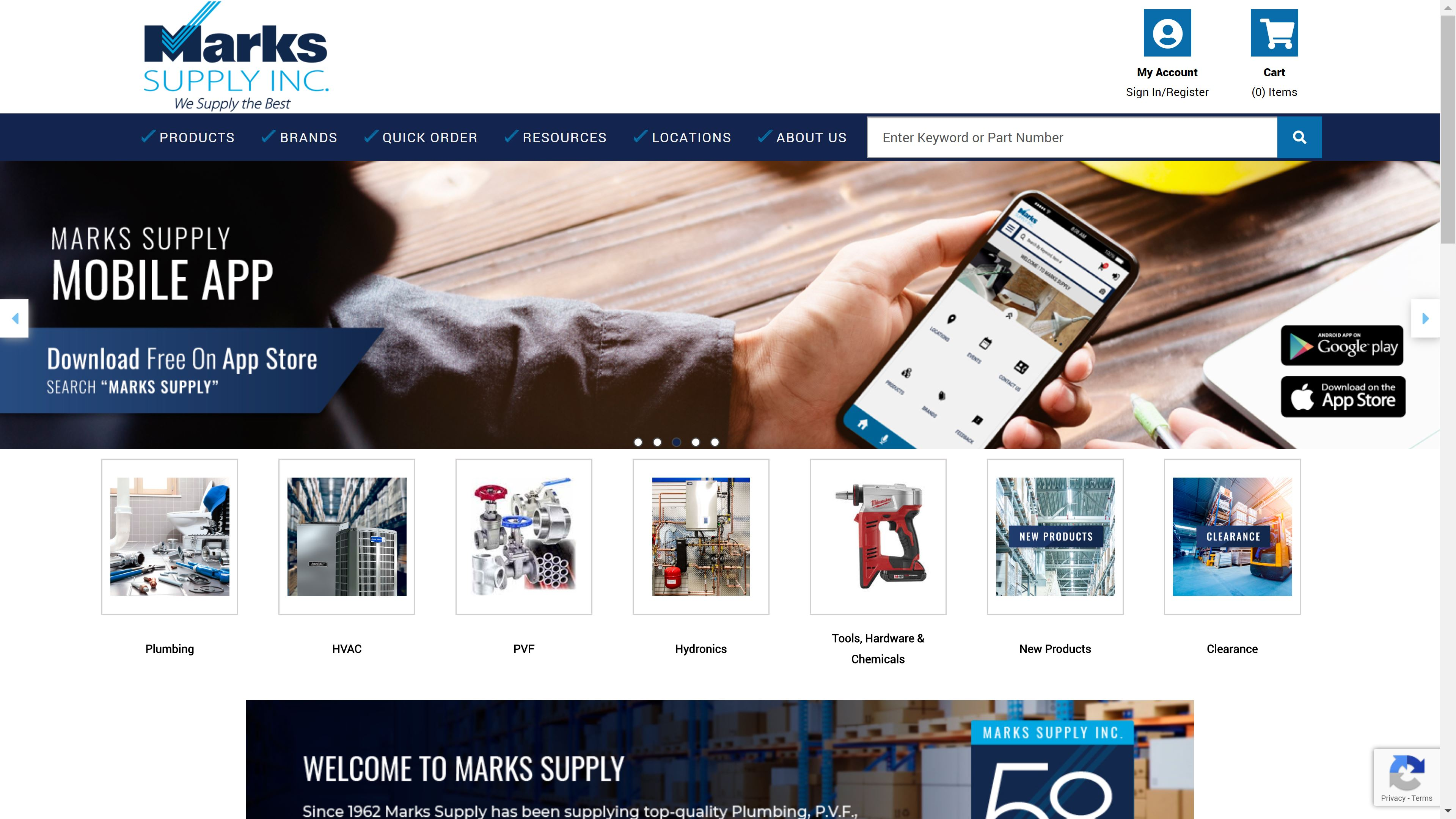 Marks supply site