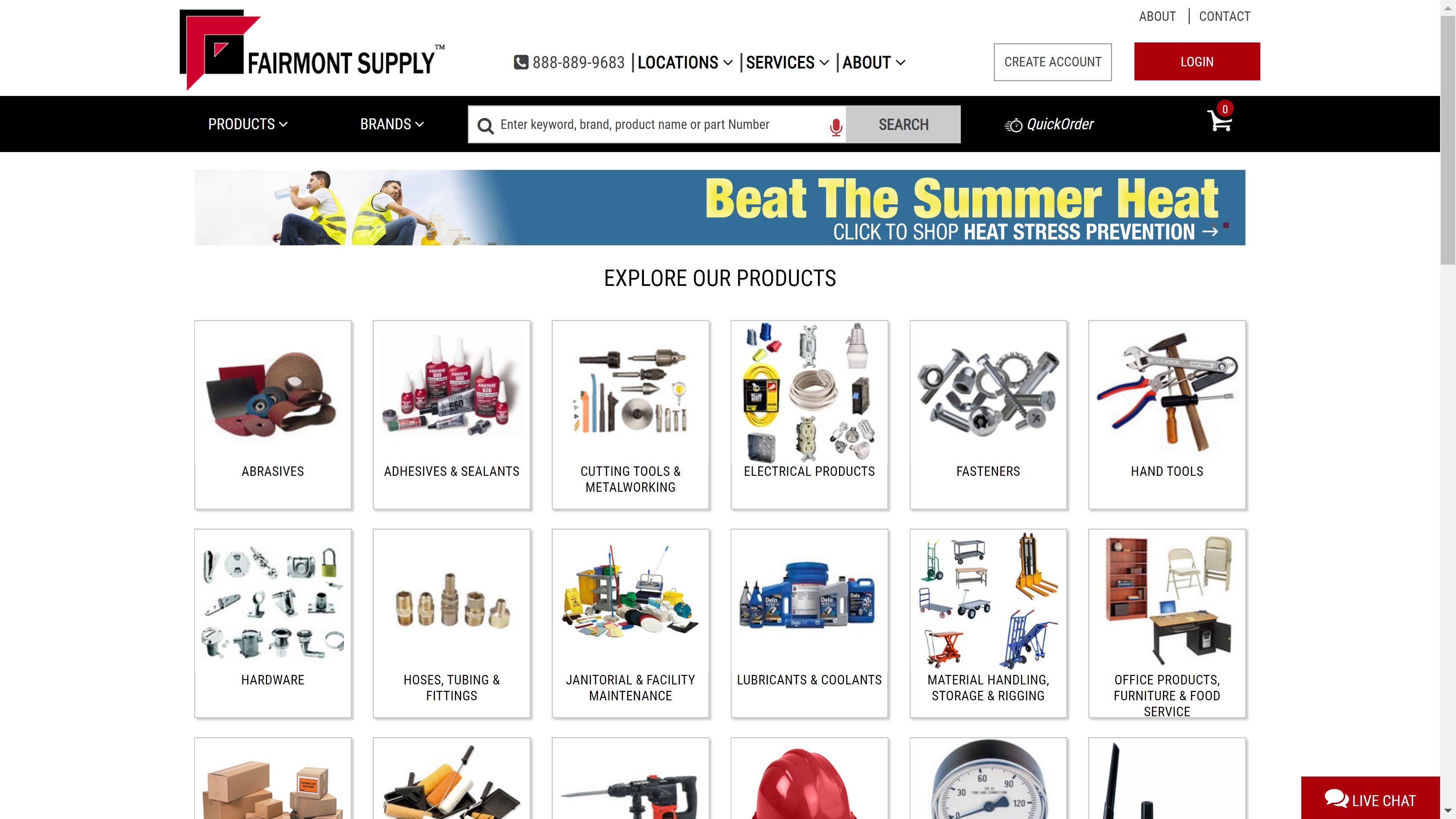 Fairmont Supply site