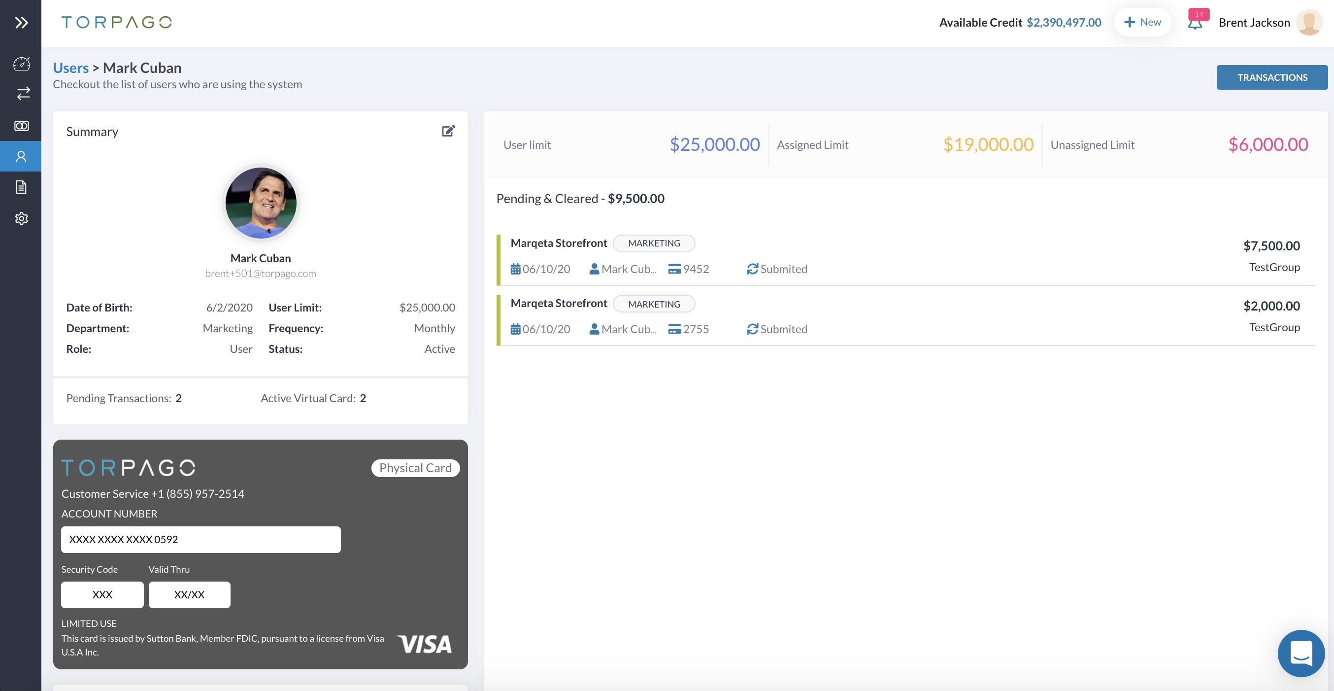 Application screenshot 2