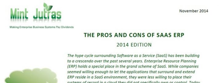 The Pros and Cons of SaaS ERP