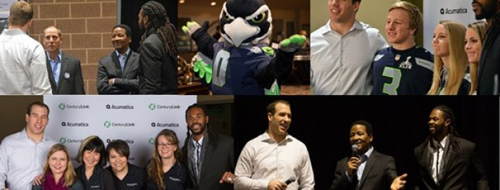 Celebrating Acumatica 5.0 and the Seahawks at CenturyLink Field