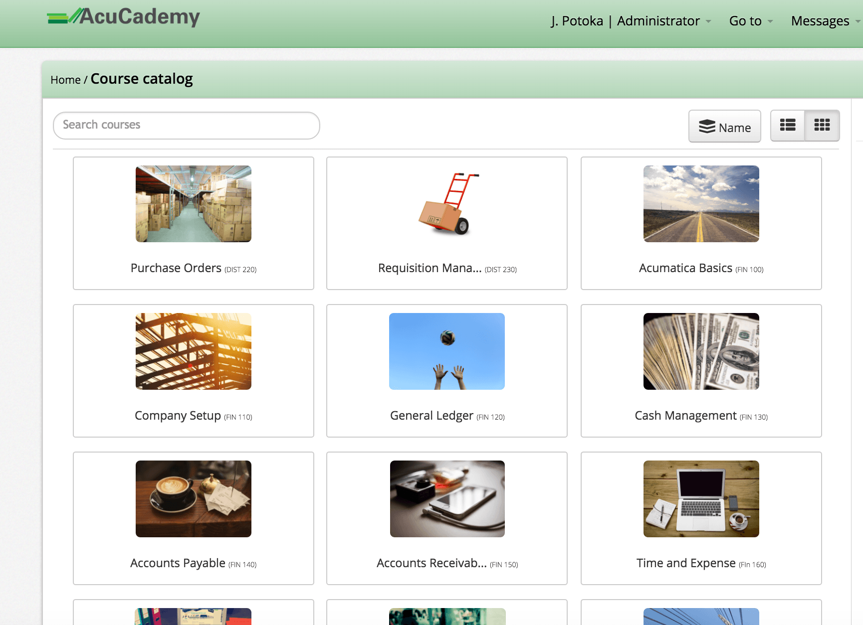 AcuCademy Course Catalogue