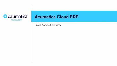 Acumatica Fixed Assets Overview