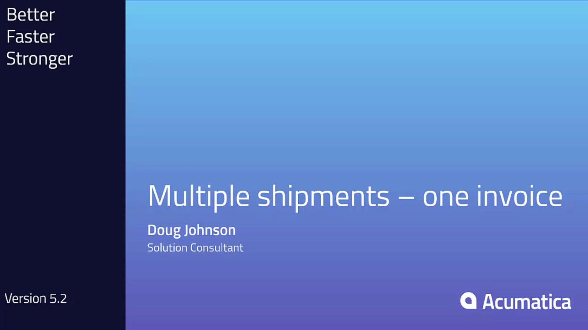 Multiple Shipments Combined in One Invoice