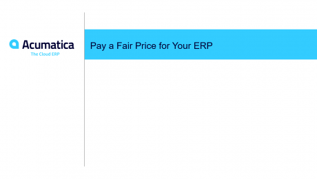 Pay a Fair Price for Your ERP