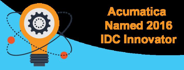 Acumatica Named 2016 IDC Innovator