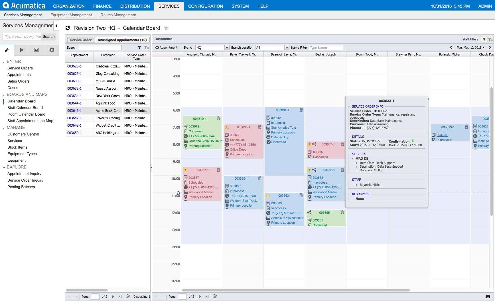 Field Service Management Acumatica Cloud Erp