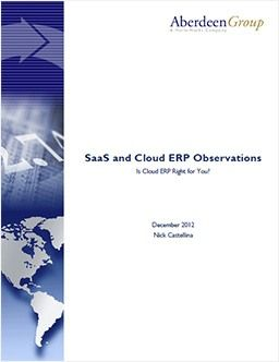 SaaS and Cloud ERP Observations: Is Cloud ERP Right for You?