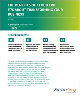 The Benefits of Cloud ERP Software: It's About Transforming Your Business