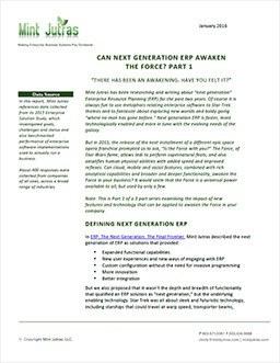 Can Next Generation ERP Awaken the Force? Part 1