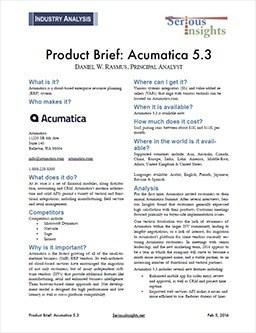 Acumatica 5.3 Product Brief