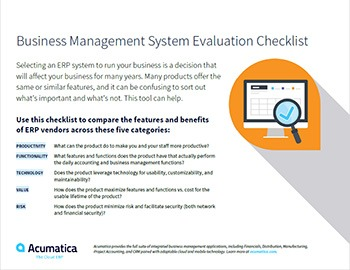 Business Management System Evaluation Checklist