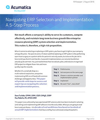 Navigating ERP Selection and Implementation: A 5-Step Process