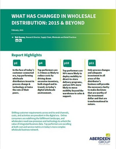 What Has Changed in Wholesale Distribution: 2015 & Beyond