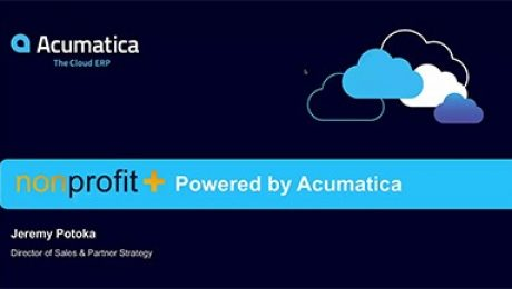 Acumatica NonProfitPlus Webinar (Nov 2016)