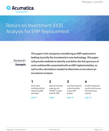 ROI Analysis for ERP Replacement