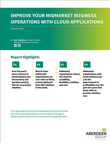 Improve Your Midmarket Business Operations with Cloud Applications