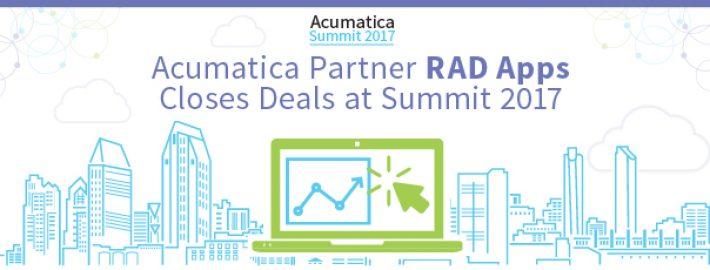 Acumatica Partner RAD Apps Closes Deals at Summit 2017