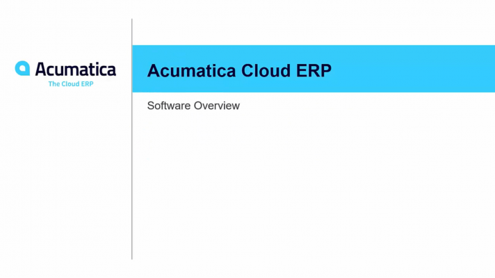 Acumatica Cloud ERP Software Overview