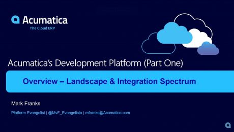 Acumatica's Development Platform (Part One)