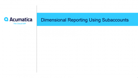 Dimensional Reporting Using Subaccounts