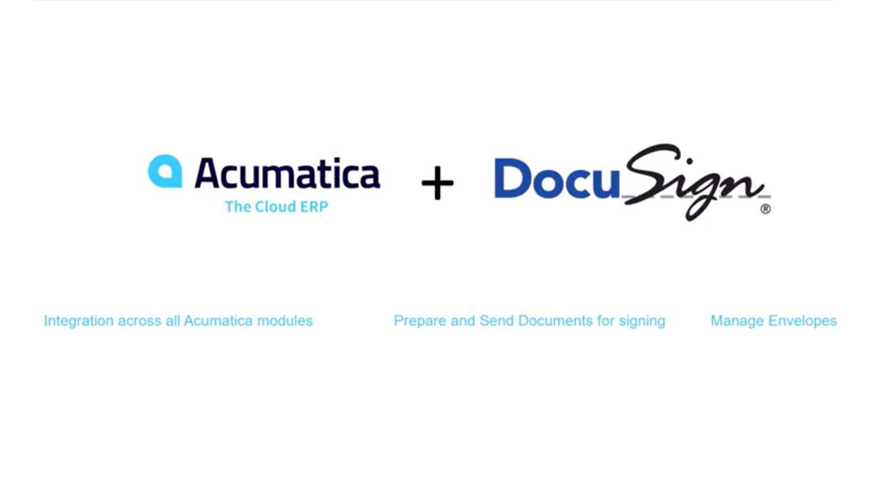 DocuSign for Acumatica Cloud ERP Demo