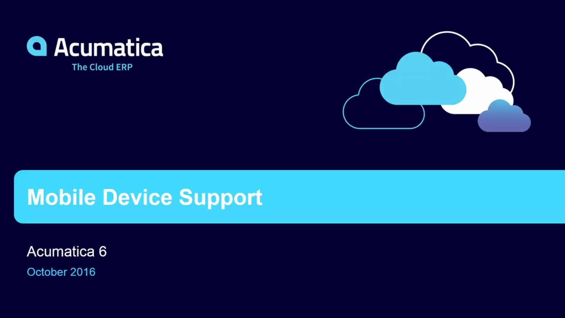 Mobile Device Support in Acumatica