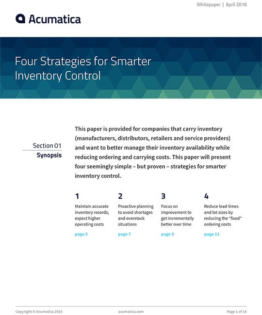 Four Strategies for Smarter Inventory Control