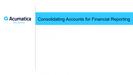 Consolidating Accounts for Financial Reporting