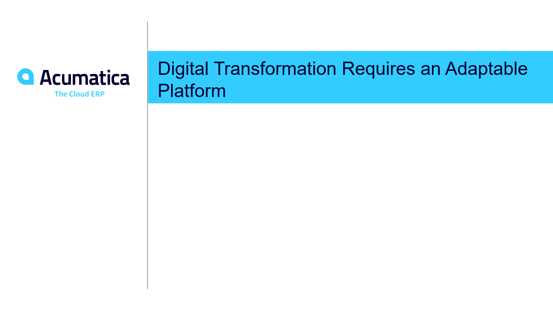Digital Transformation Platform