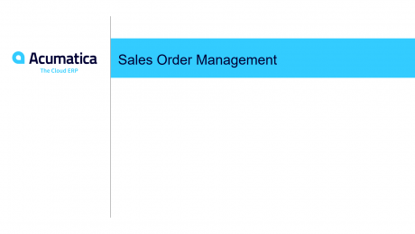 Sales Order Overview