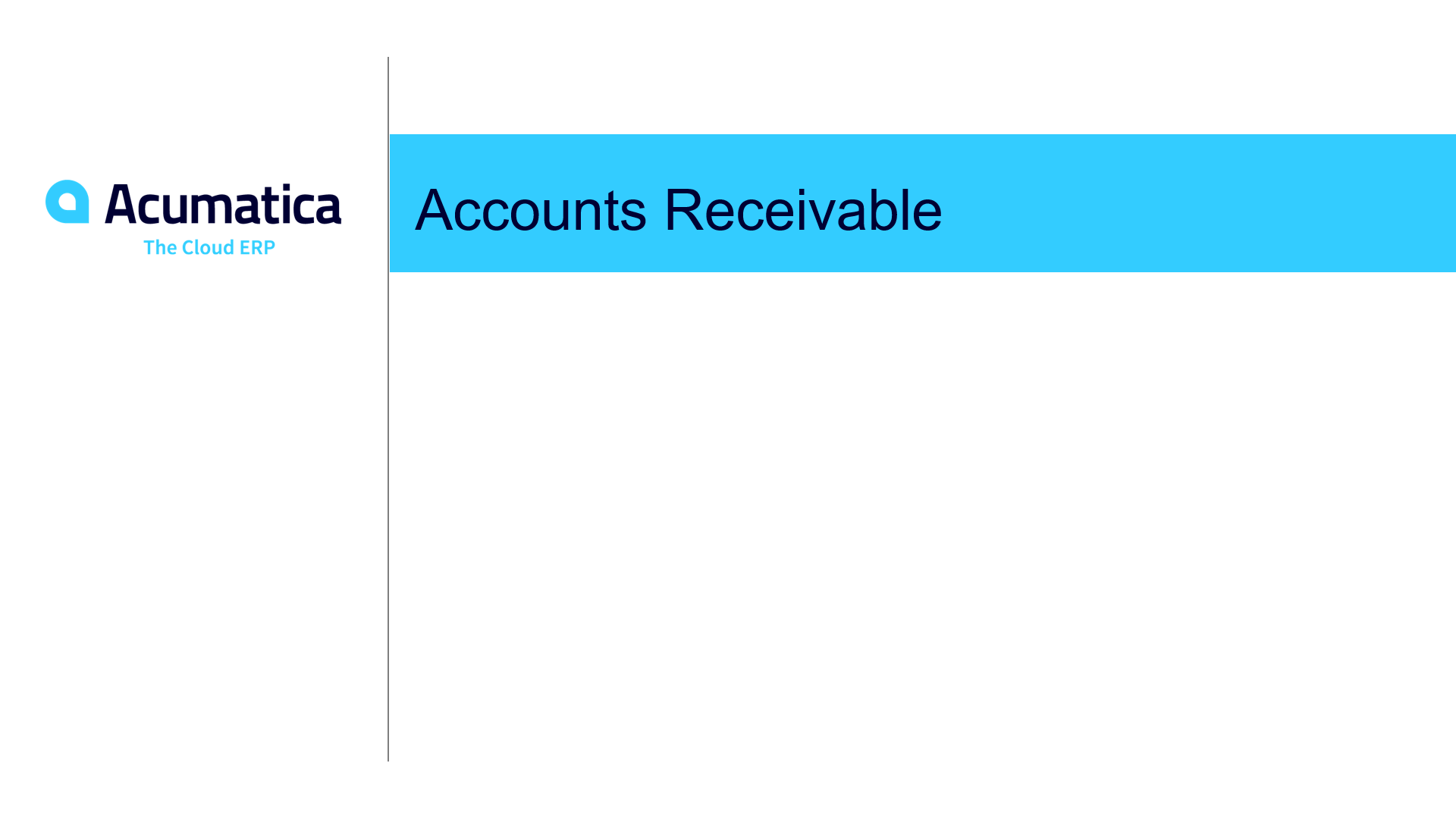 Accounts Receivable Overview